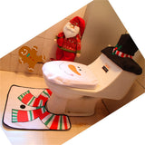 Unparalleled™ Set Fancy Happy Santa Toilet Seat Cover