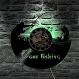 Fishy™ Premium Gone Fishing  Wall Clock