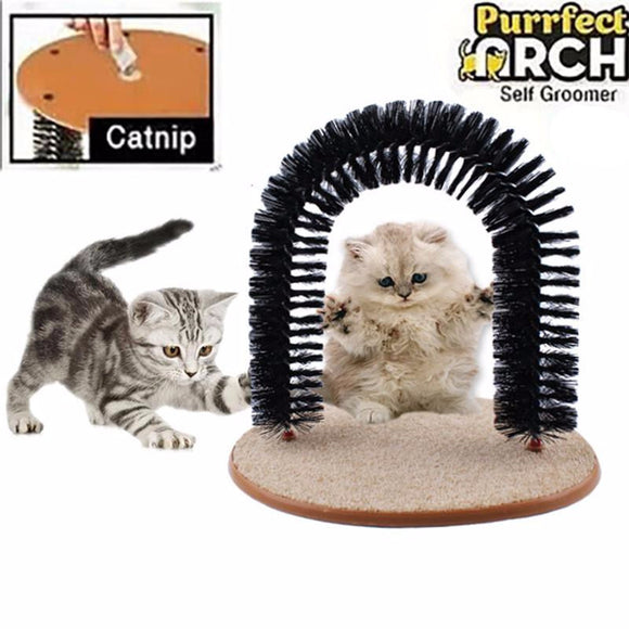 Purrfect™ Premium Cat Groomer/Massager/Scratcher Toy [With Free Catnip]