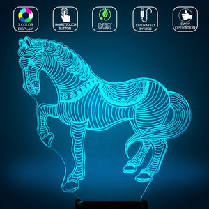 Horsy™ 3D Horse LED Lamp H1