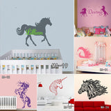 Sticy™ Premium Horse Personalized Name Wall Sticker