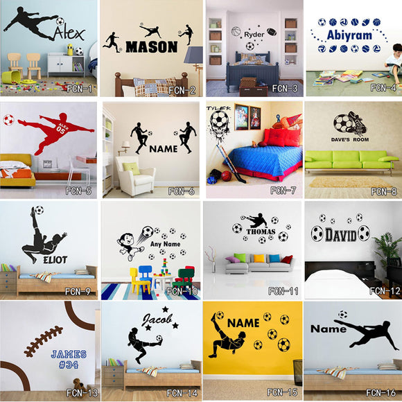 Sticy™ Premium Soccer Custom Name Wall Sticker