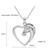 Jewad™ 2017 Hollow Heart Horse Necklace