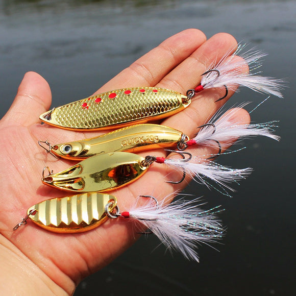 Unparalleled™ Pack 4 Lucky Gold Fishing Lures