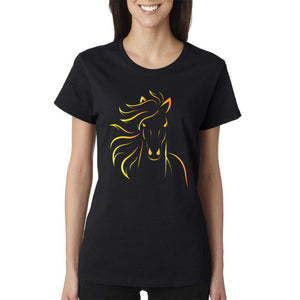 Design Print Horse Women T-shirts
