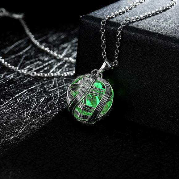 Glow In The Dark Yarn Ball Necklace