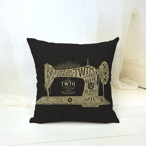 Vintage Sewing Machine Pillowcase