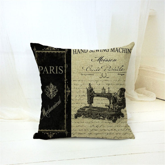 Sewing Machine Vintage Pillows Case