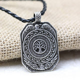 Vikings Amulet Necklace Tree of Life Runes