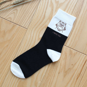 New Match-Up™ Cat Cartoon Socks