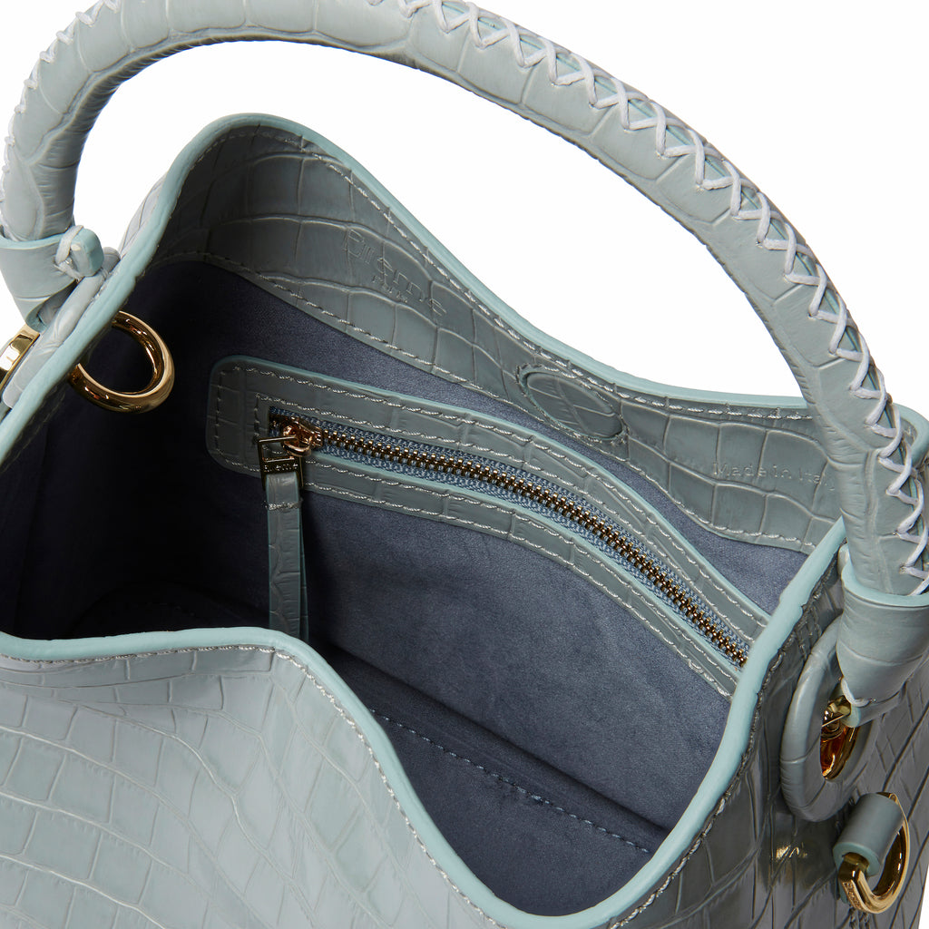 Baozi <span>Croco Embossed Leather Blue</span>