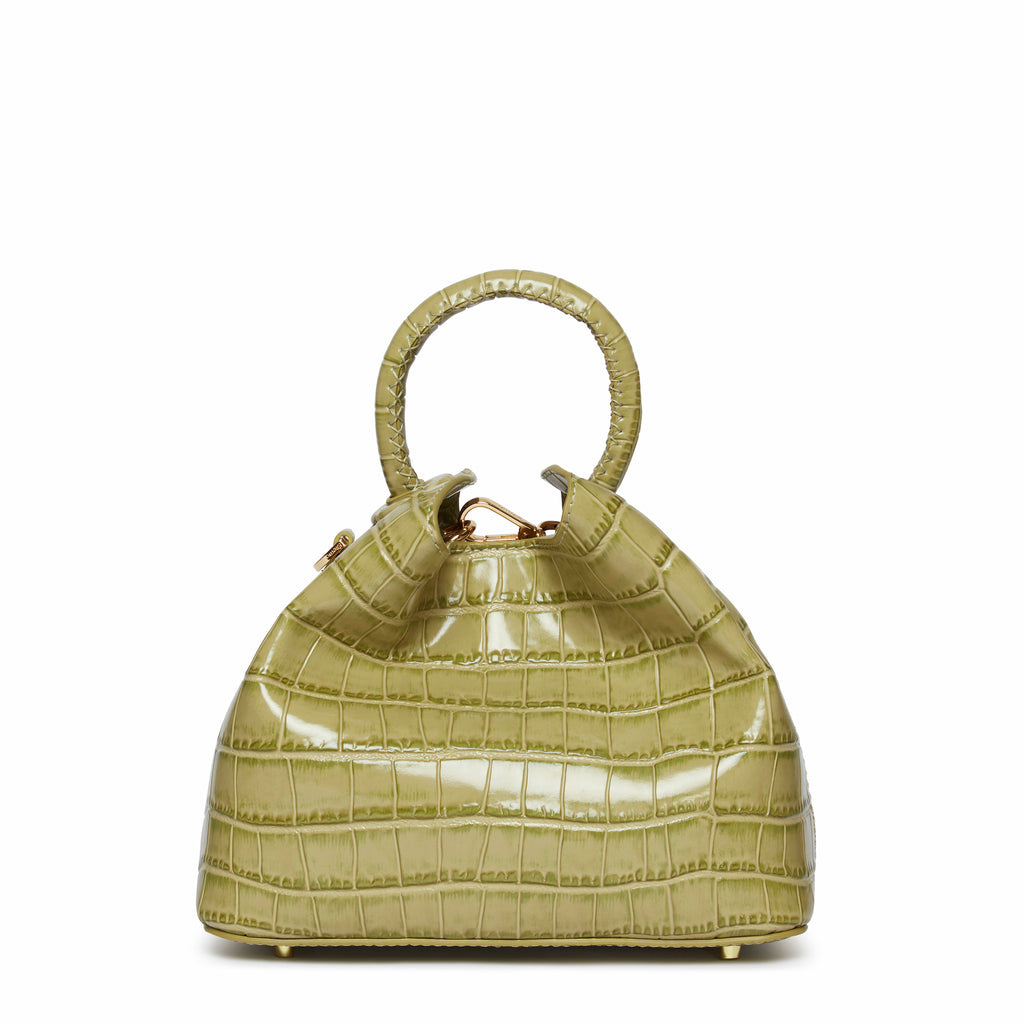 Baozi <span>Croco Embossed Leather Olive</span>