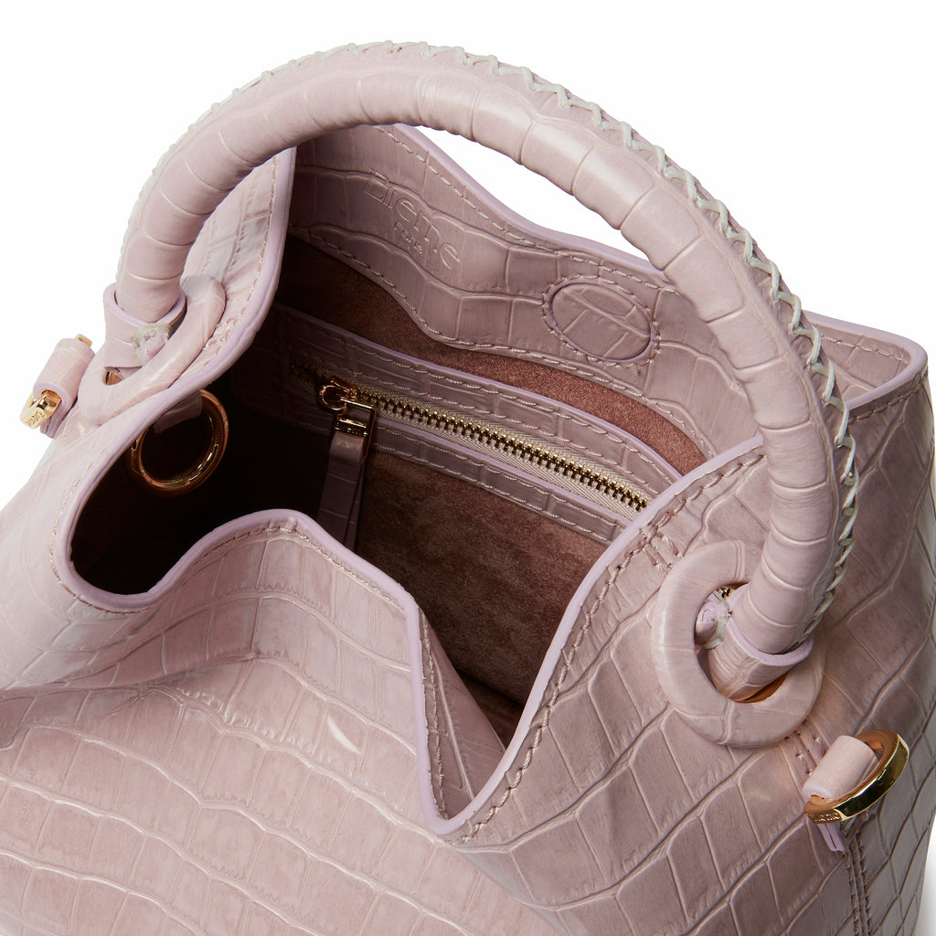 Baozi <span>Croco Embossed Leather Pink</span>
