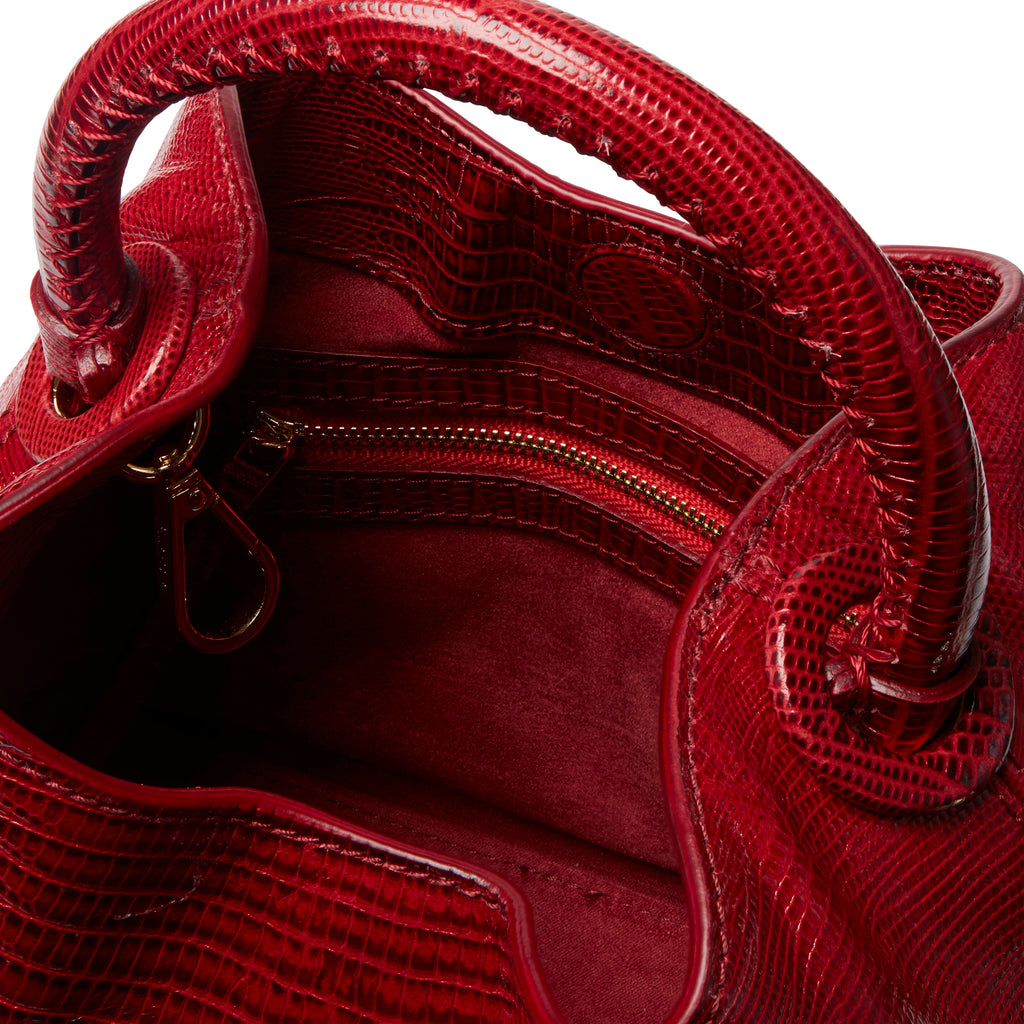 Baozi <span>Lizard Embossed Leather Red</span>