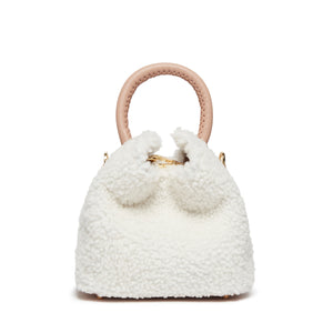 Madeleine - Shearling Teddy <span>White / Blush</span>