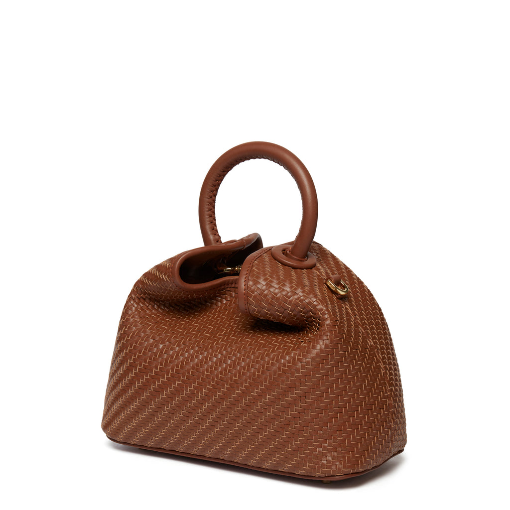 Baozi Woven Leather Brown
