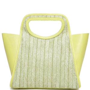 Cupidon Large - Raffia Limoncello <span>Yellow</span>