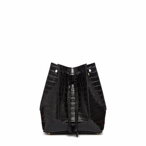 Canelé Croco Embossed Leather Black