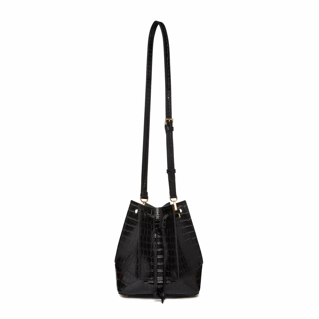 Canelé<span>Croco Embossed Leather Black</span>