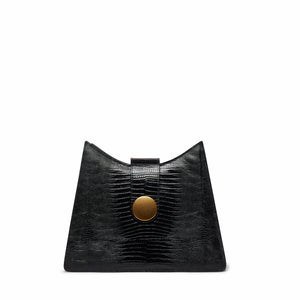 Cat <span>Lizard Embossed Leather Black</span>