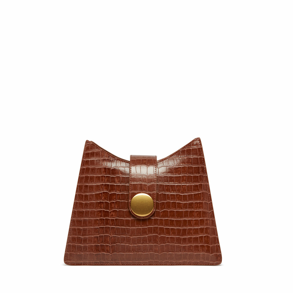 Cat <span>Croco Embossed Leather Cognac</span>