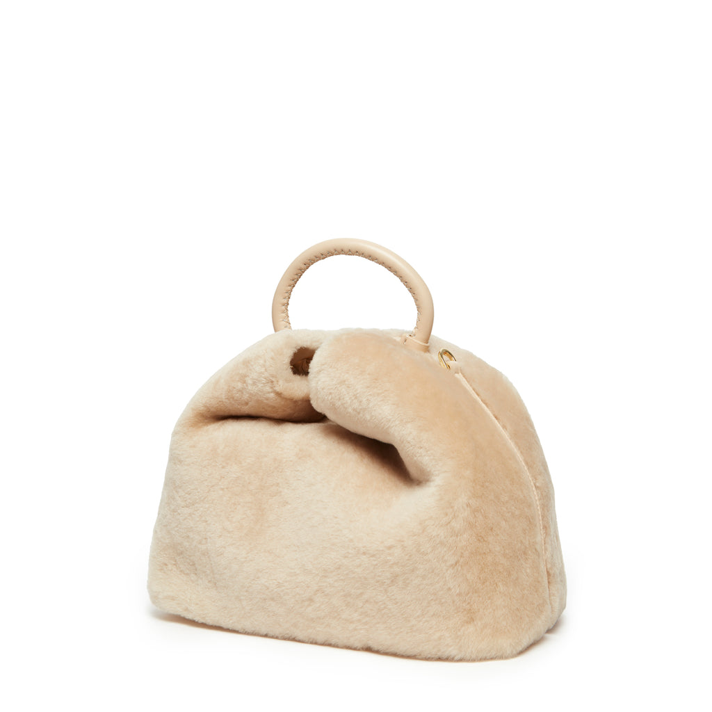 Raisin Shearling Montone Cream