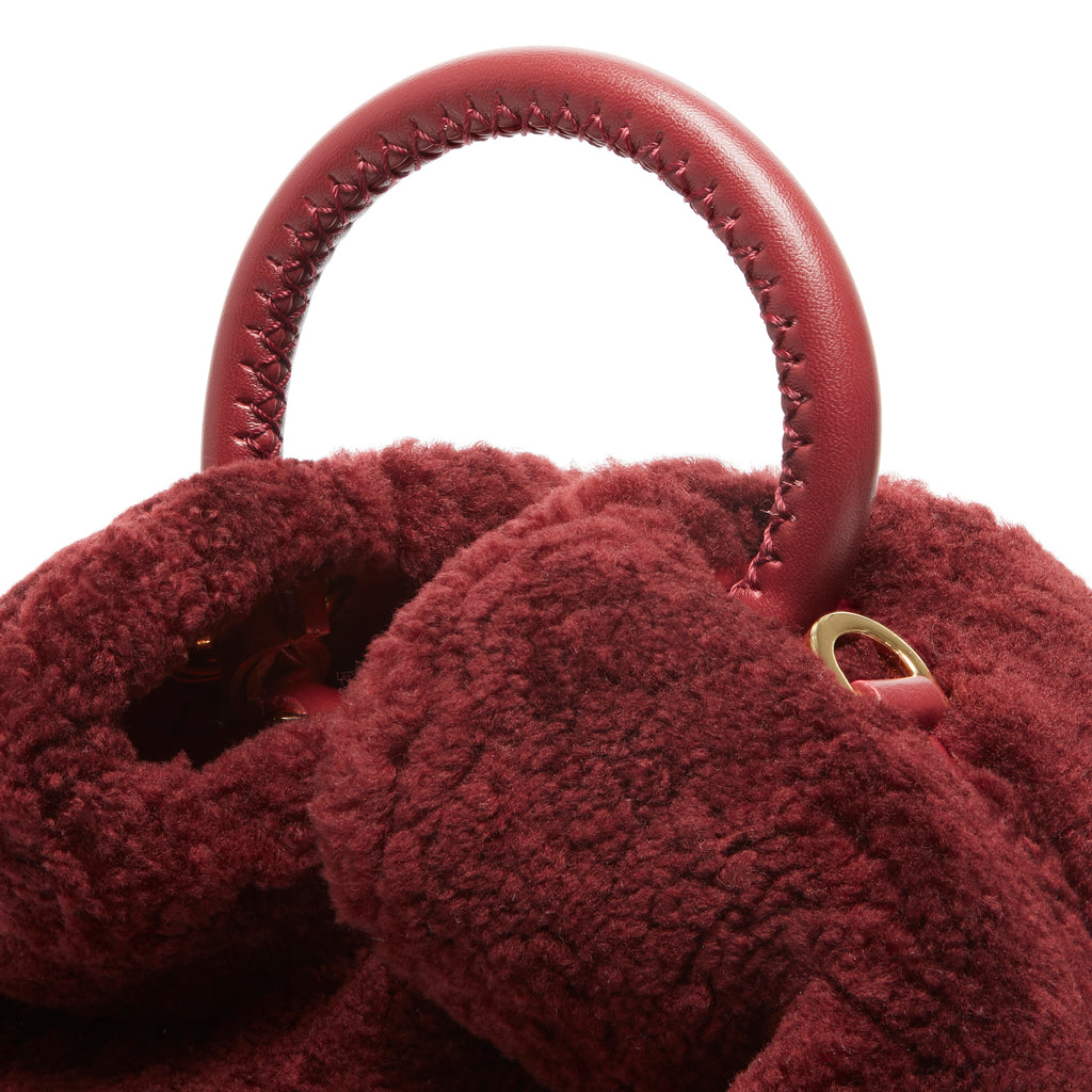 Baozi Shearling Teddy Burgundy