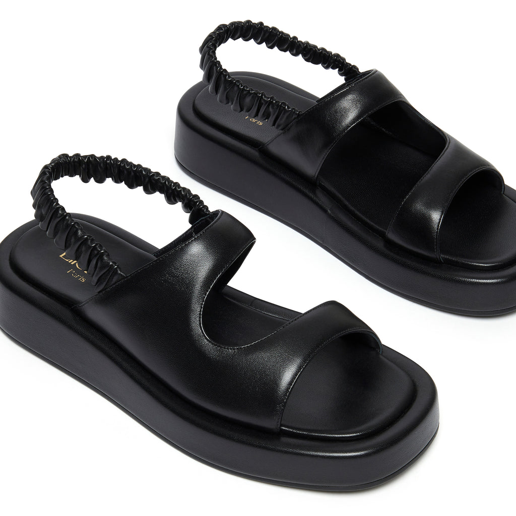Gemini Puffy Slingback Black