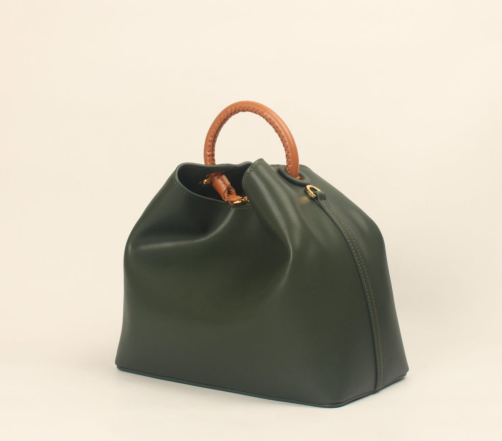 Raisin - Khaki Green (Caramel Handle)