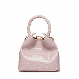 Madeleine Croco Embossed Leather Pink