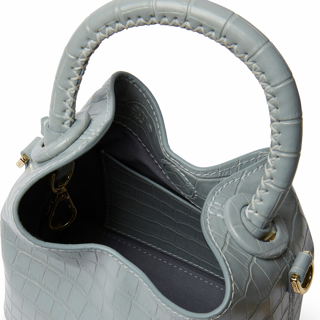 Madeleine <span>Croco Embossed Leather Blue</span>