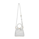 Madeleine Lizard Embossed Leather White