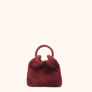 Madeleine Shearling Montone Red Prune