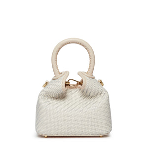 Madeleine <span> Woven Leather White