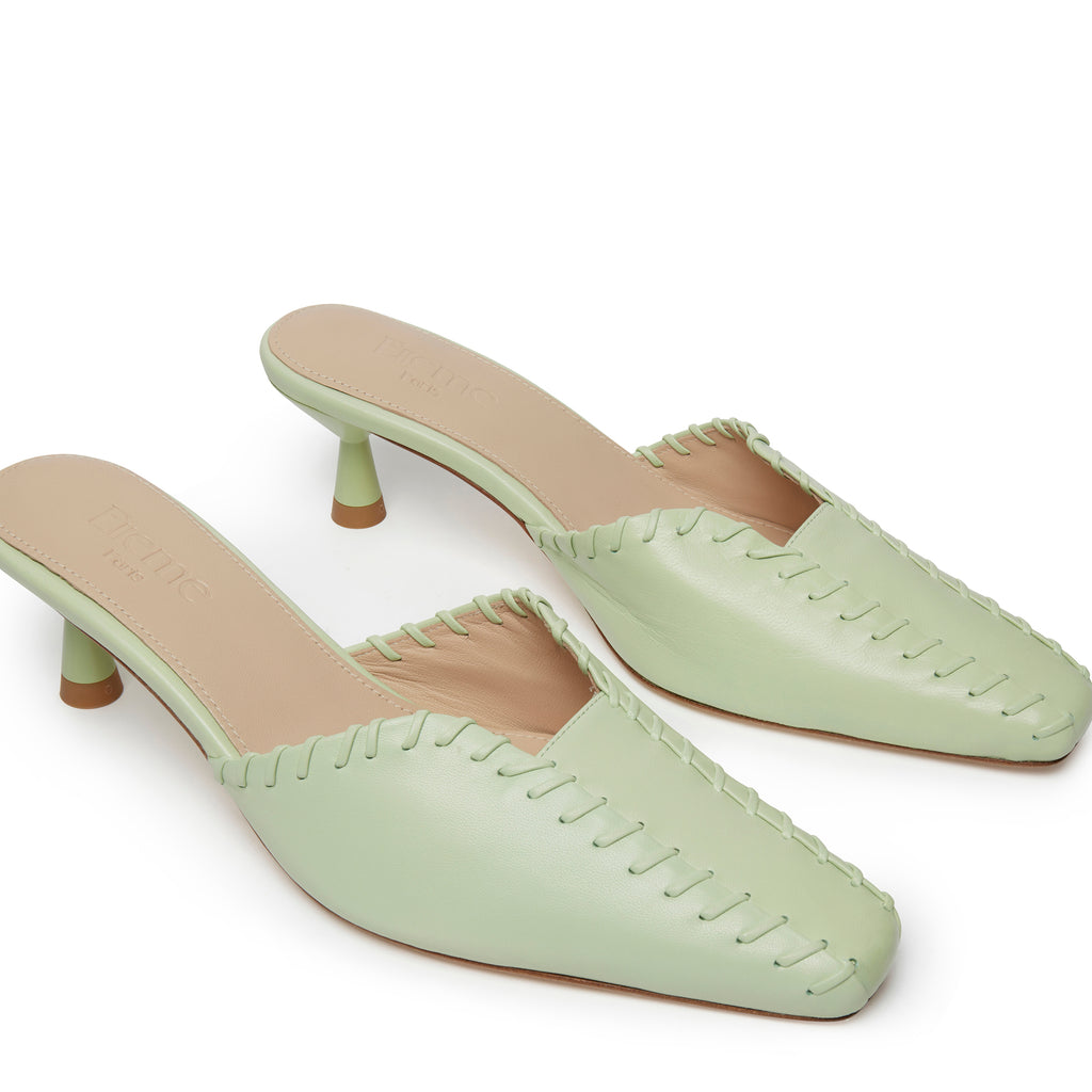 Mules Stitch <span>Green