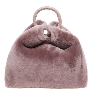 Raisin Shearling Montone Mauve