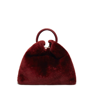 Raisin Shearling Montone Burgundy
