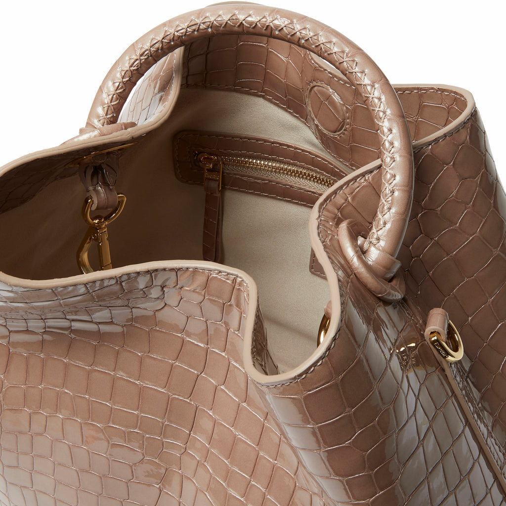 Raisin Croco Pearl Taupe