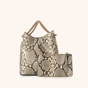Small Vosges Python Print Grey/Taupe