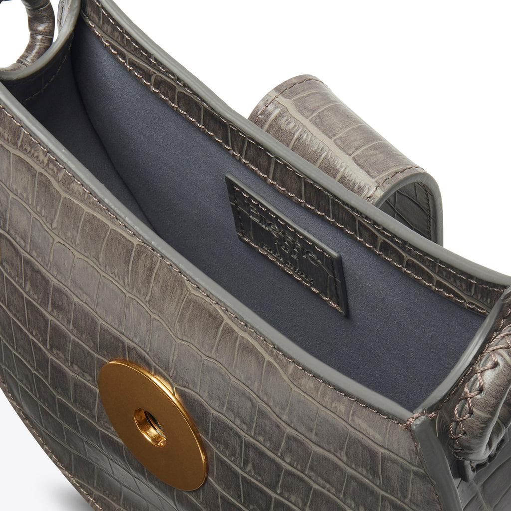 Tambour <span>Croco Embossed Leather Grey</span>