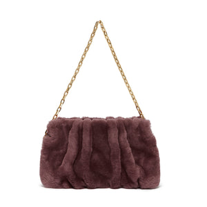 Vague with chain Shearling Mauve