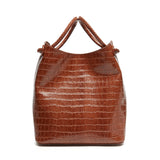 Small Vosges -  Cognac Croco Embossed Leather