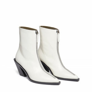Eclair Zipper Boots Leather White