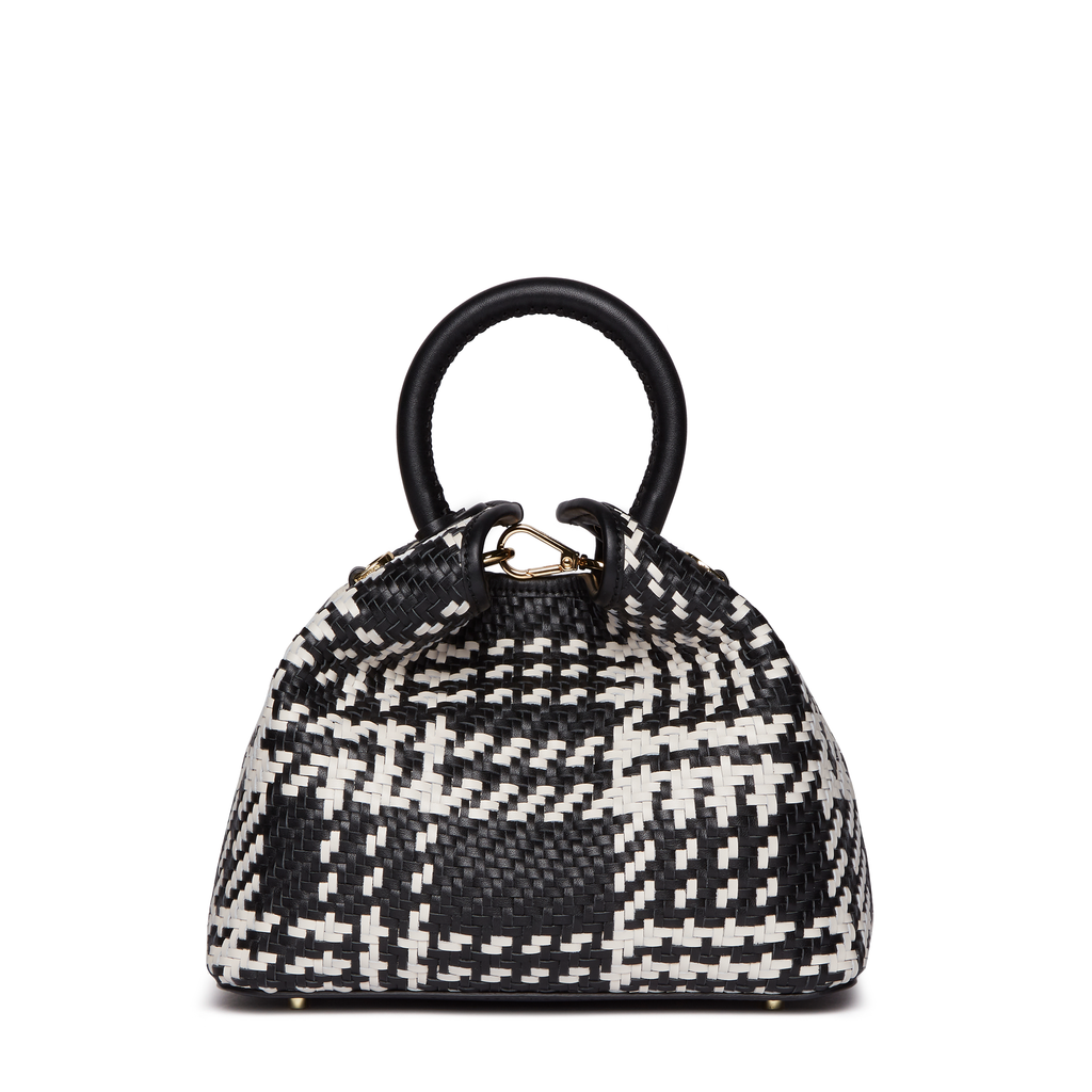 Baozi <span>Woven Leather Black/White</span>