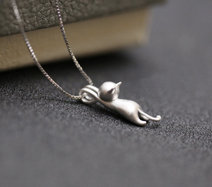 Sterling Silver Kitty Necklace - Renaly