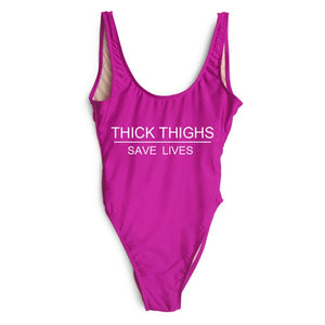 Thick Thighs Save Lives™  One Piece Swimsuit - Renaly