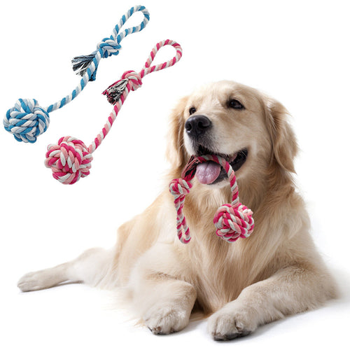 Cotton Rope Pet Dog Ball Toys Puppy Dog Teeth Clean Training Chew Toy - Dog Toys Box