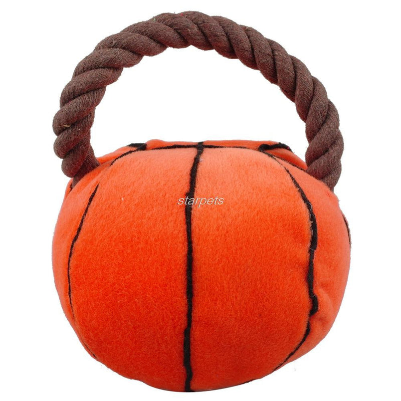 New Arrival Sport Plush Rope Ball Puppy Dog Squeaker Interactive Toys - Dog Toys Box