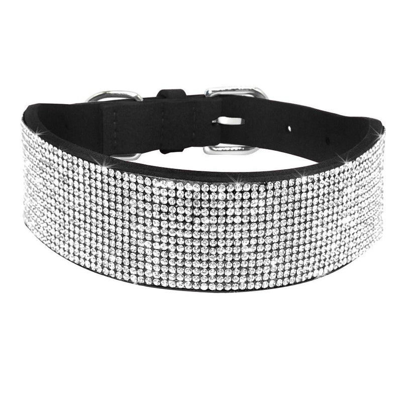 Bling Full Rhinestone Crystal  Pet Diamante Dog Collars - Dog Toys Box