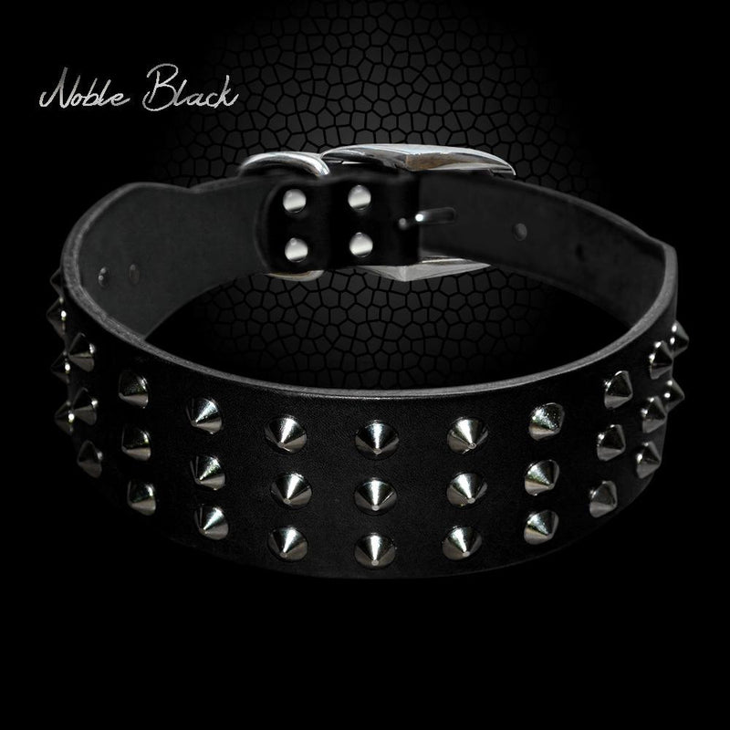 Cool Rivets Studded Best Genuine Leather Pet Dog Collars - Dog Toys Box